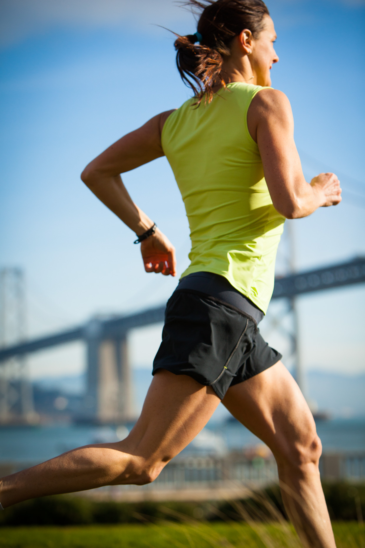 Athlete Running Bay Bridge San Francisco