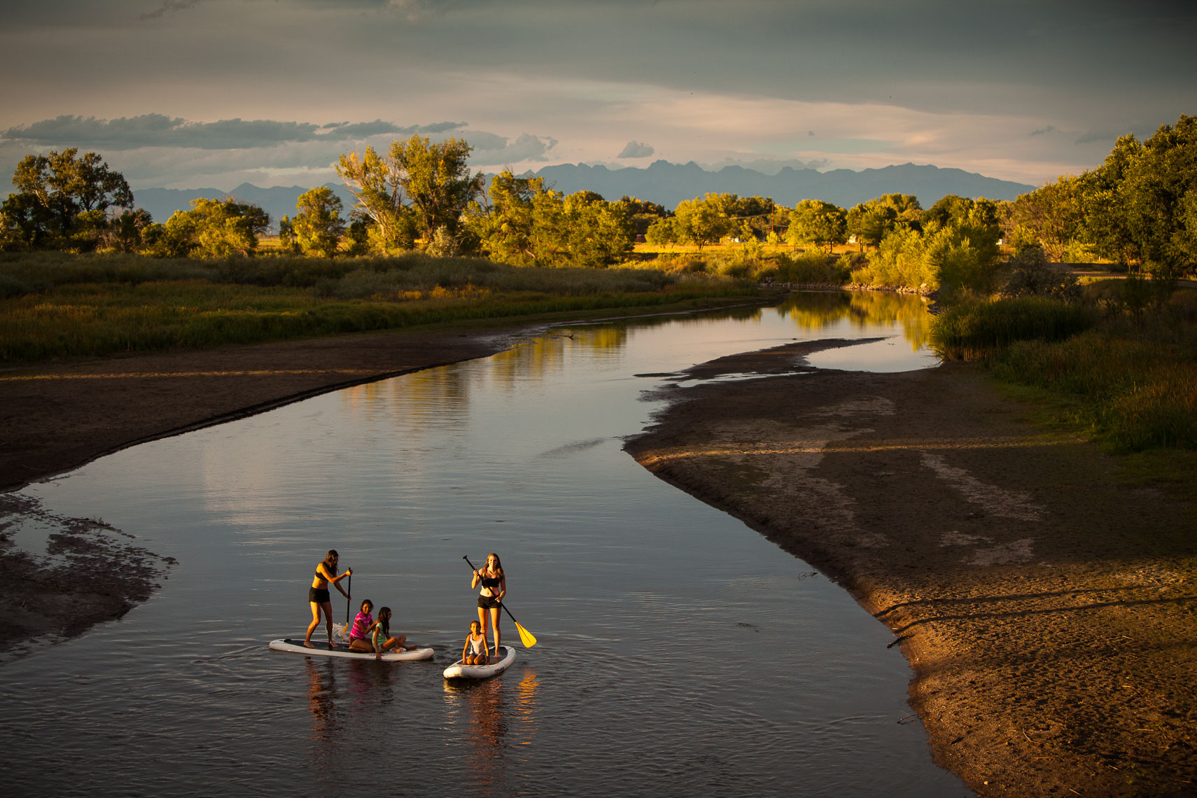 LOR Foundation.  SUP Paddling Rio Grande New Mexico.