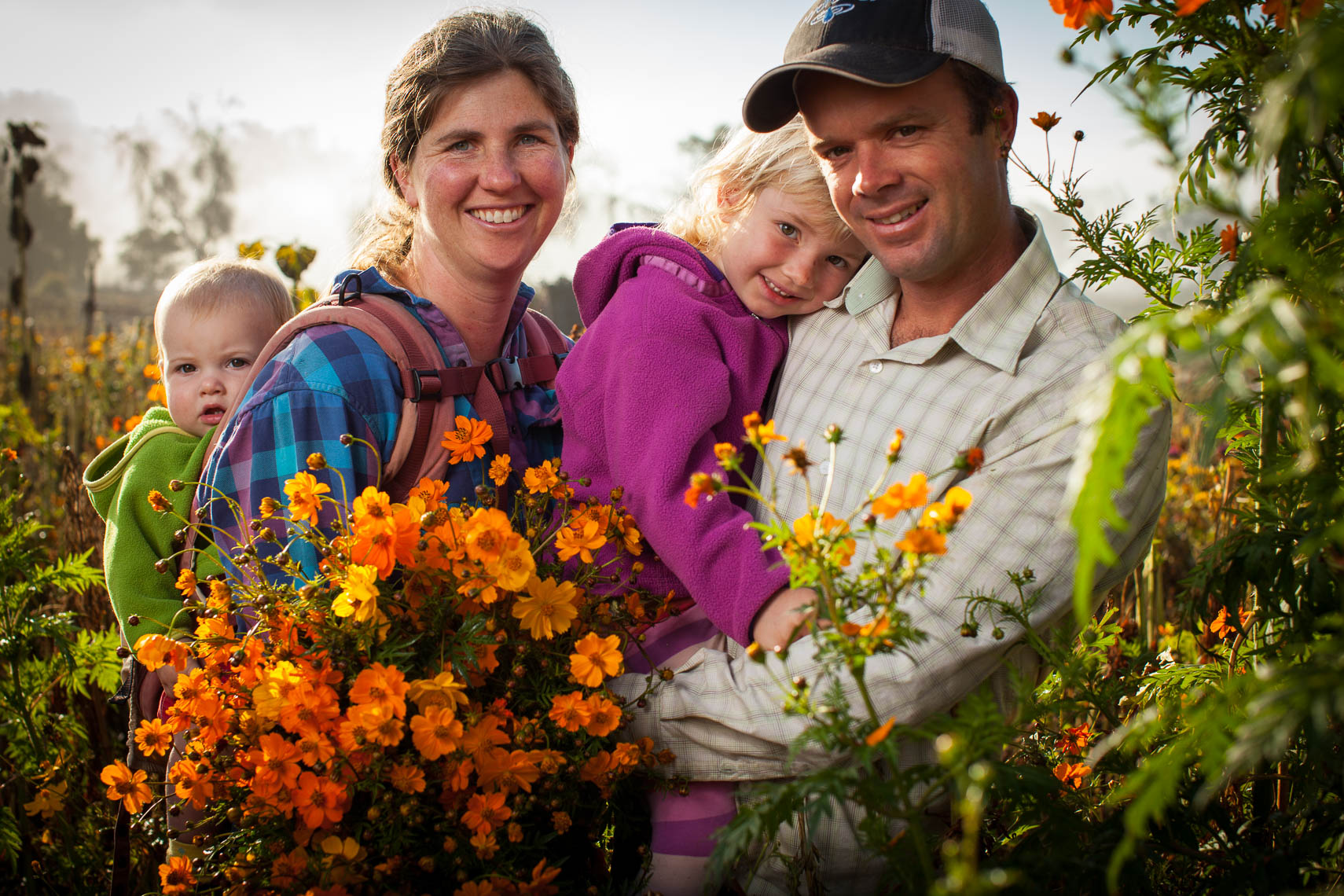 Organic Family Farmers of Flowers and Produce Santa Barbara California