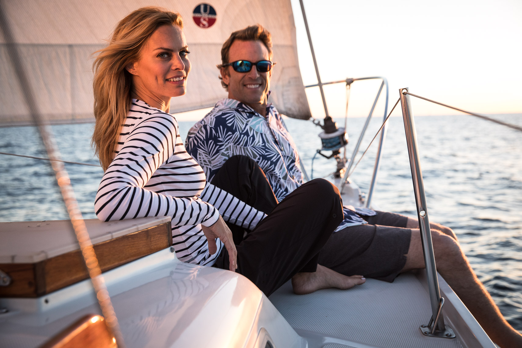 Coolibar Sun Protective Clothing Sailing Lifestyle Photoshoot San Diego