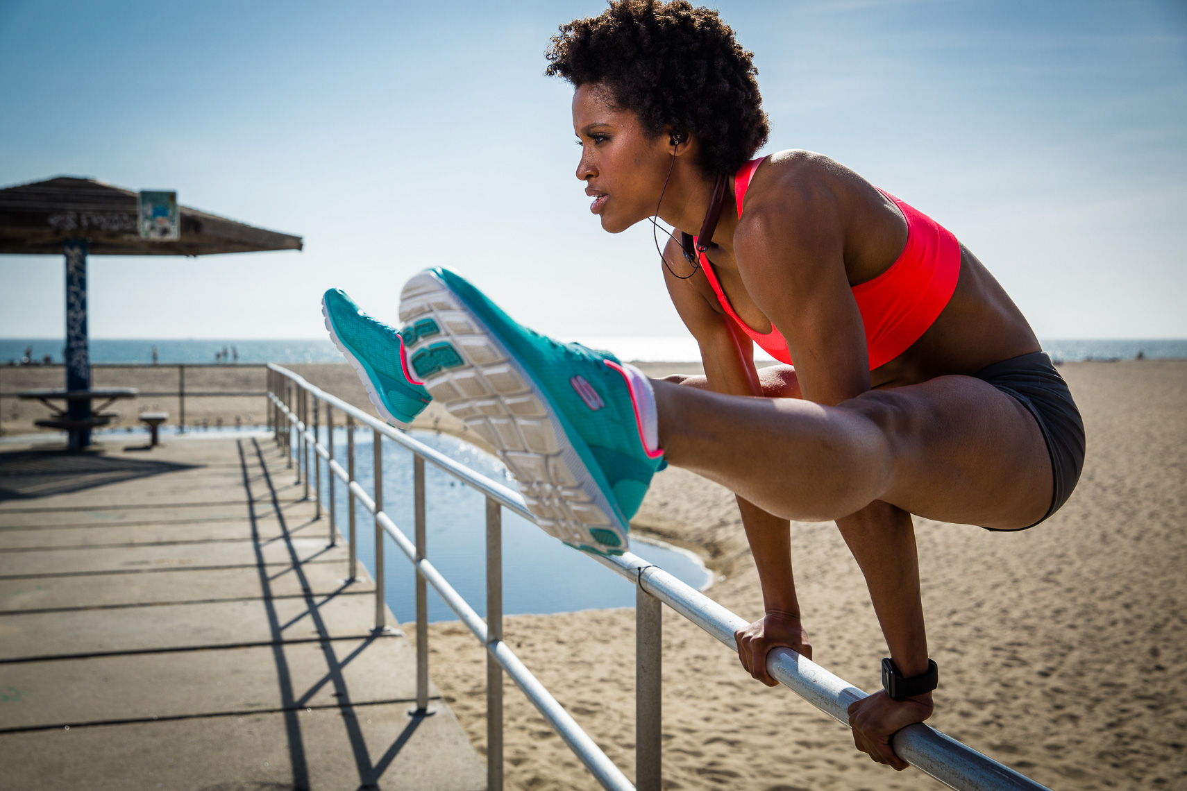 Santa Monica Pier Athletic Shoot for Leophile Sport Headphones