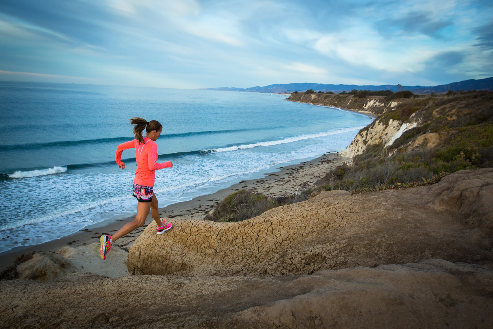 Running on the Cliffs of Southern California