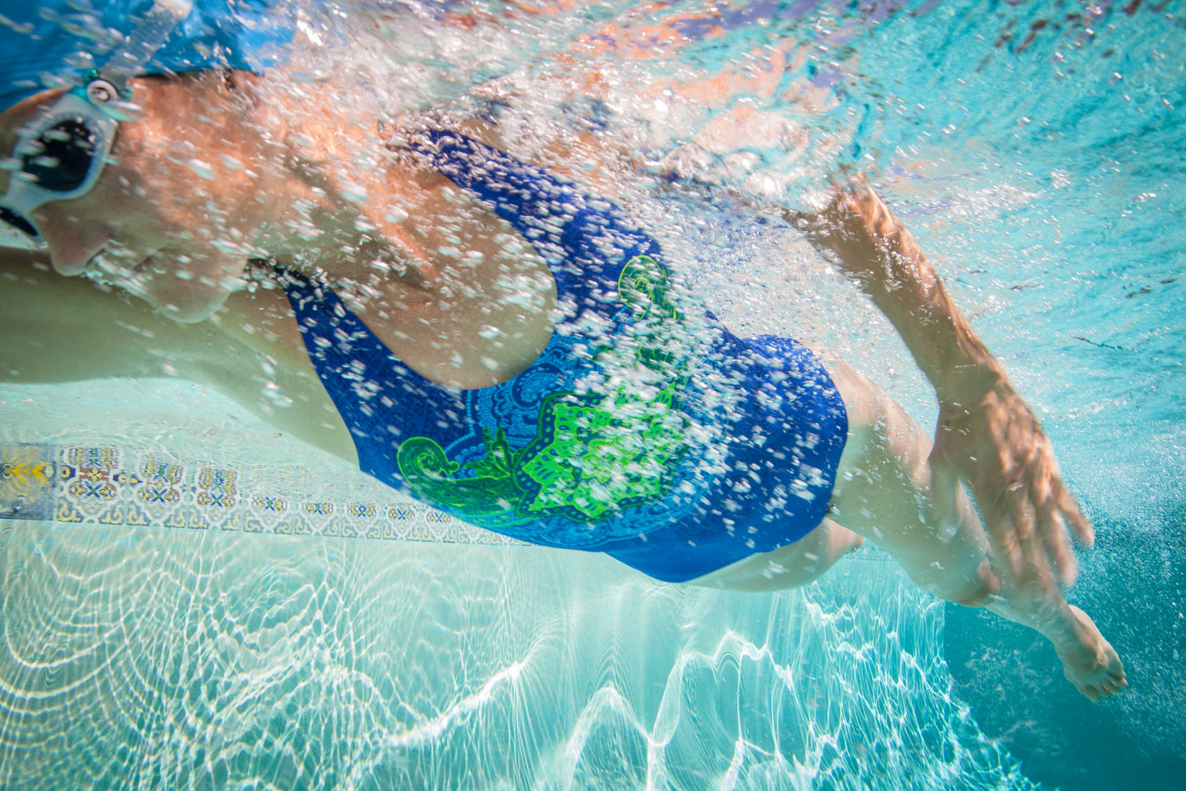 Underwater Photograph of Competitive Swimmer