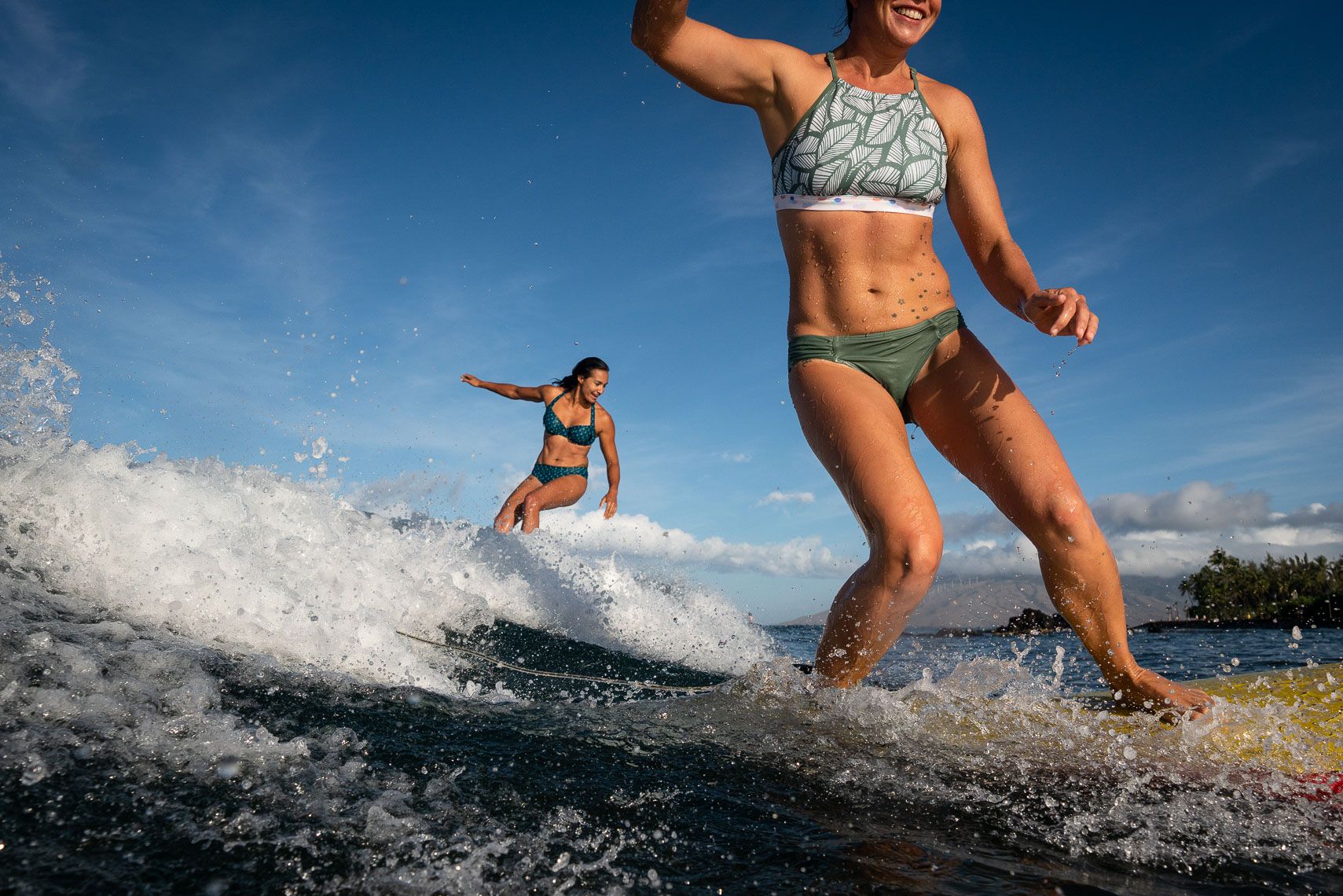 Surfing Title Nine Swimwear Maui Hawaii