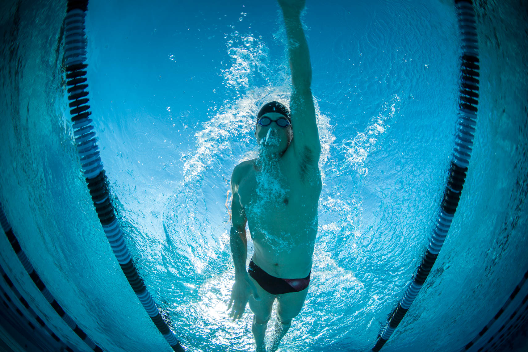 Professional Triathlete Matt Lieto Pool Training