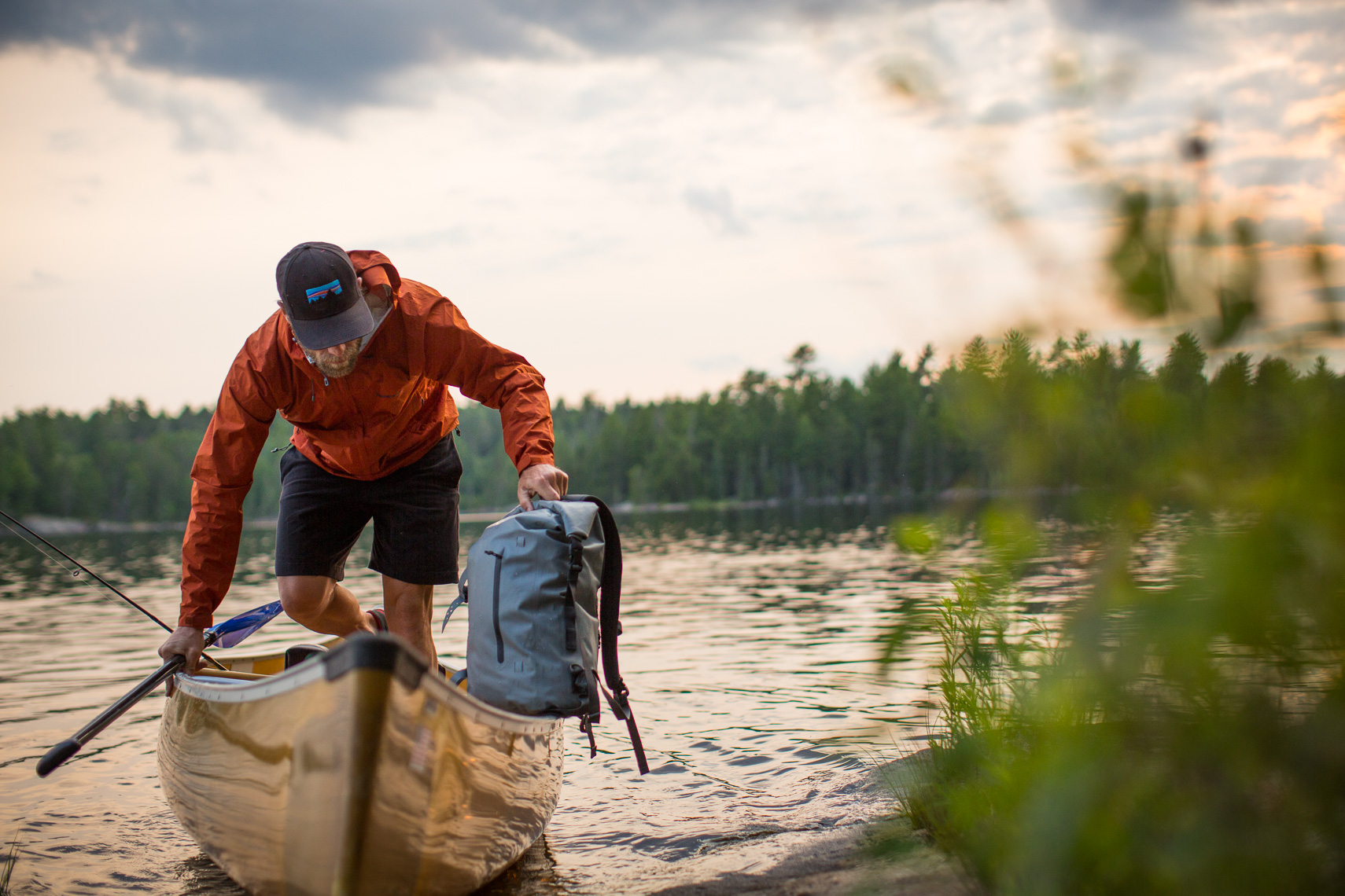 Landing a Canoe in the Boundary Waters Canoe Area Minnesota