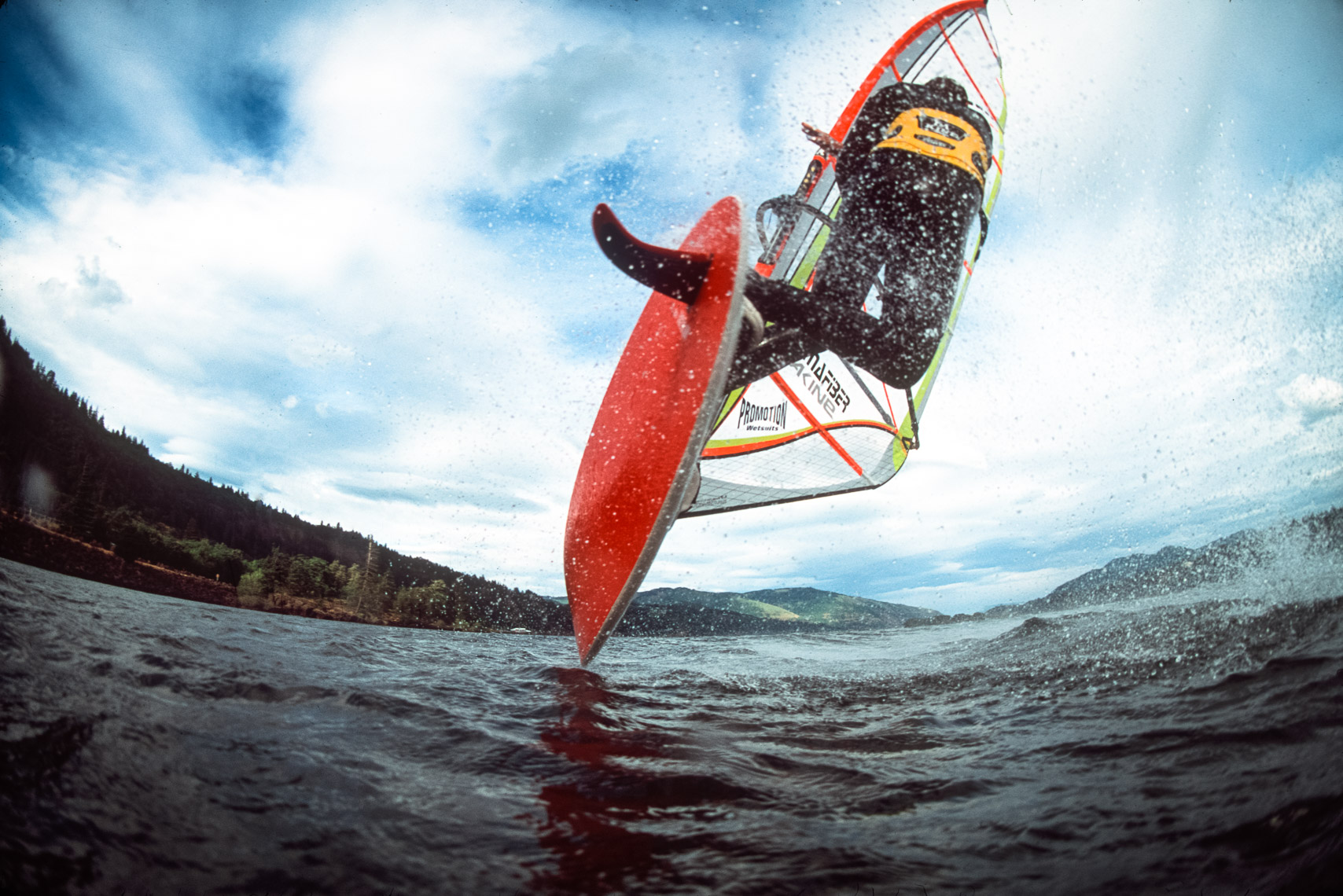 Windsurfing in Hood River Oregon on the Columbia River