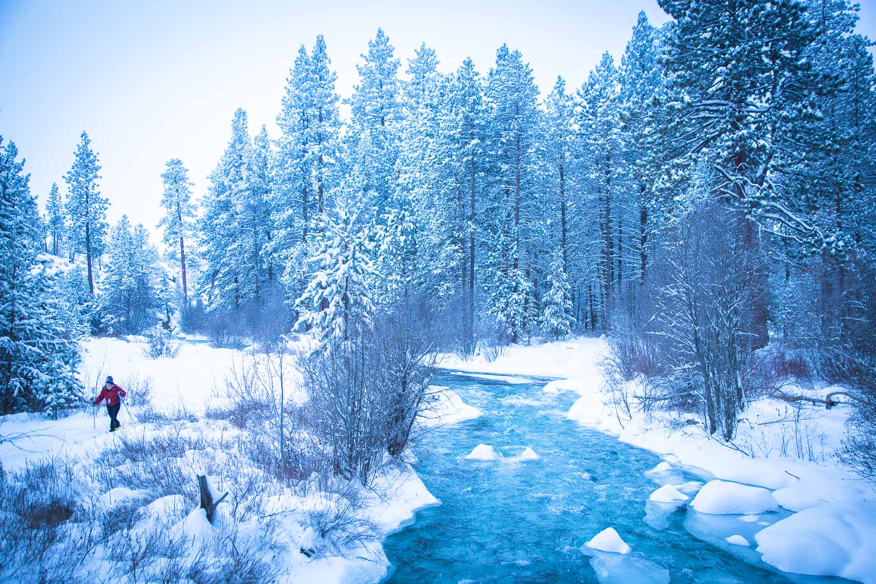 Winter Landscape of Tumalo Creek in Bend Oregon