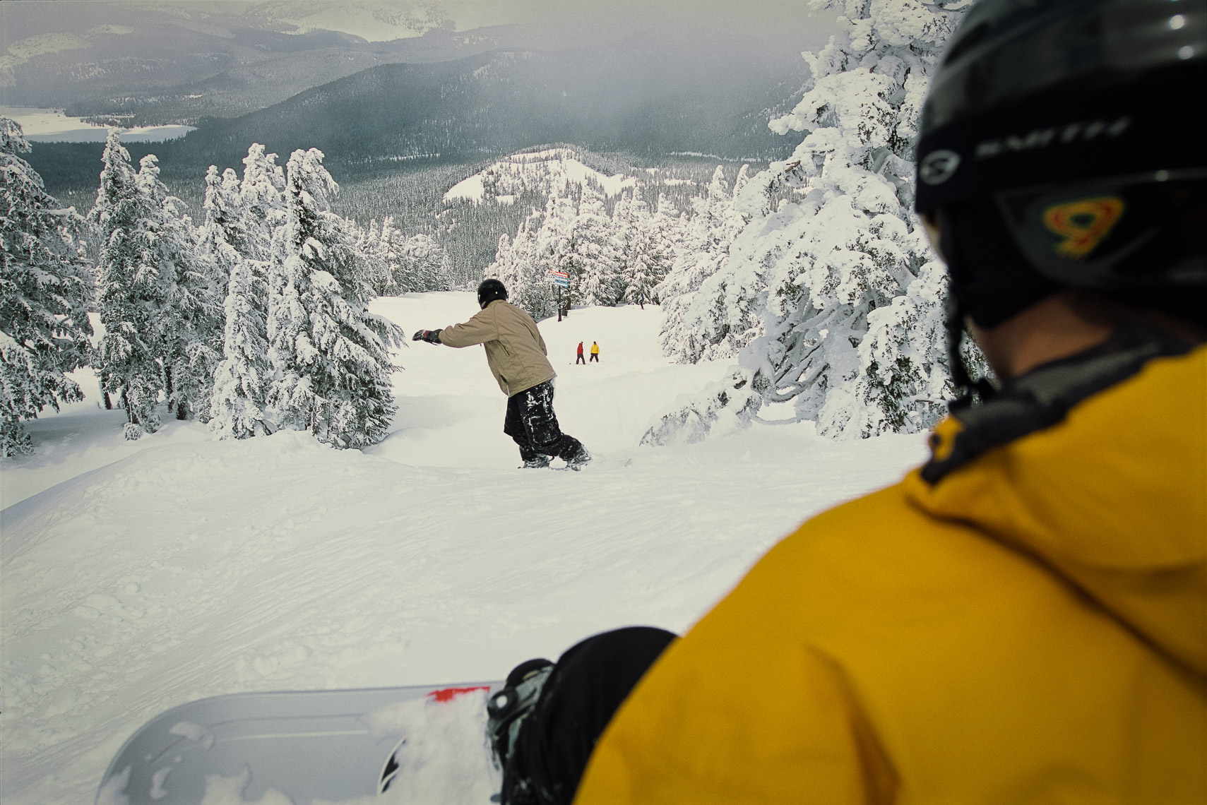 Snowboarding on Mt. Bachelor
